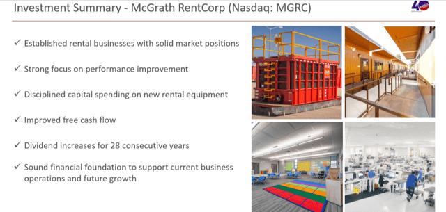 Rationalizing Reinvestment In McGrath RentCorp
