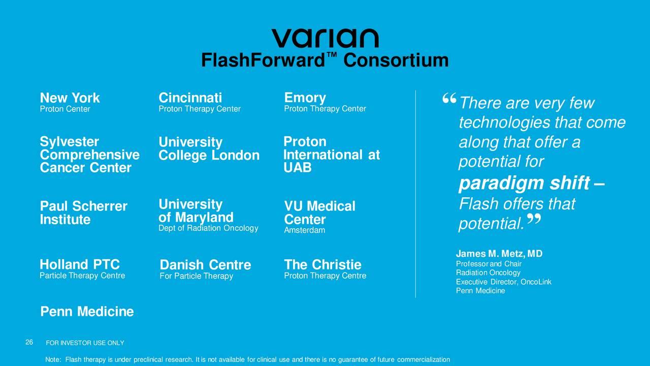 Varian Medical Systems (VAR) Presents At 37th Annual J P  Morgan
