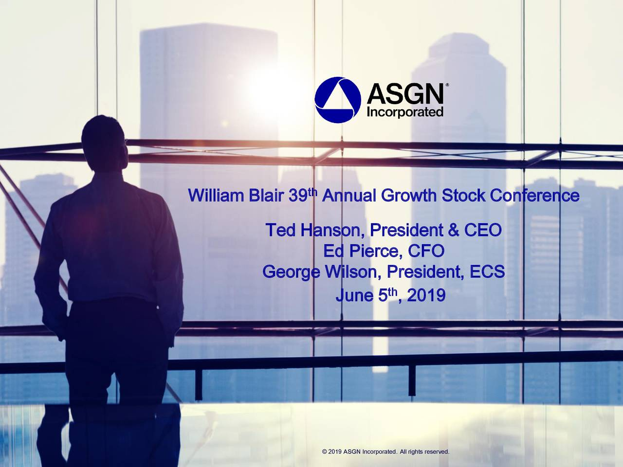 ASGN Incorporated (ASGN) Presents At William Blair Growth Stock Conference - Slideshow