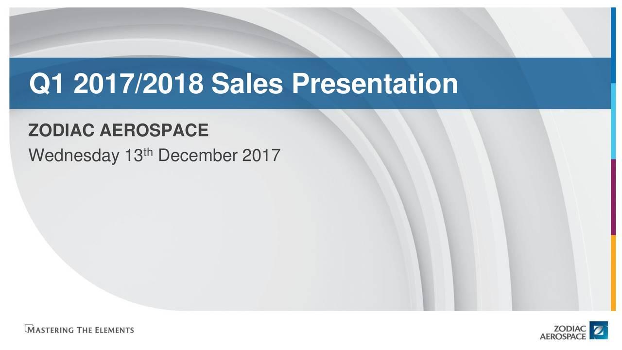 zodiac aerospace zodfy q1 sales presentation slideshow zodiac