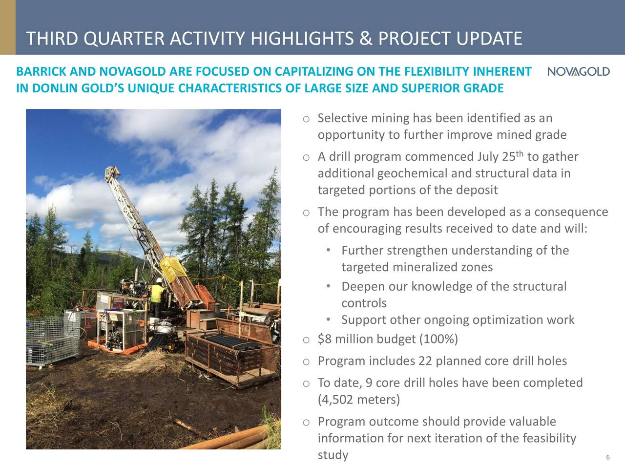 NovaGold Resources, Inc 2017 Q3 - Results - Earnings Call ...
