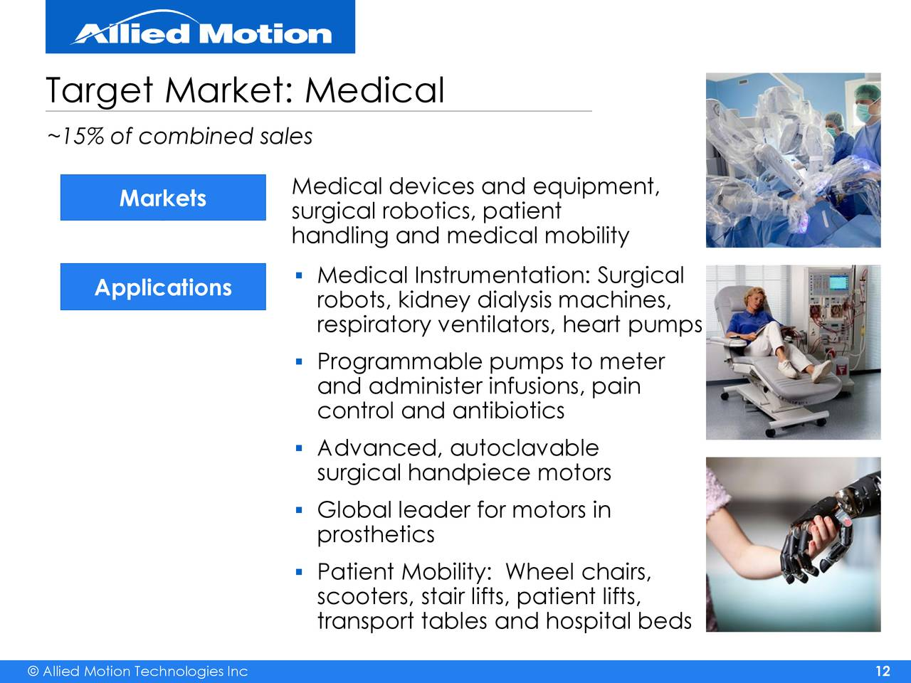 Allied Motion Technologies Amot Presents At 8th Annual