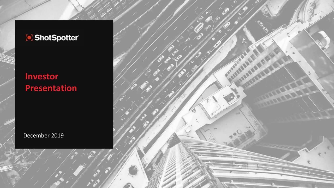 Shotspotter (SSTI) Investor Presentation - Slideshow - ShotSpotter, Inc. (NASDAQ:SSTI) | Seeking Alpha
