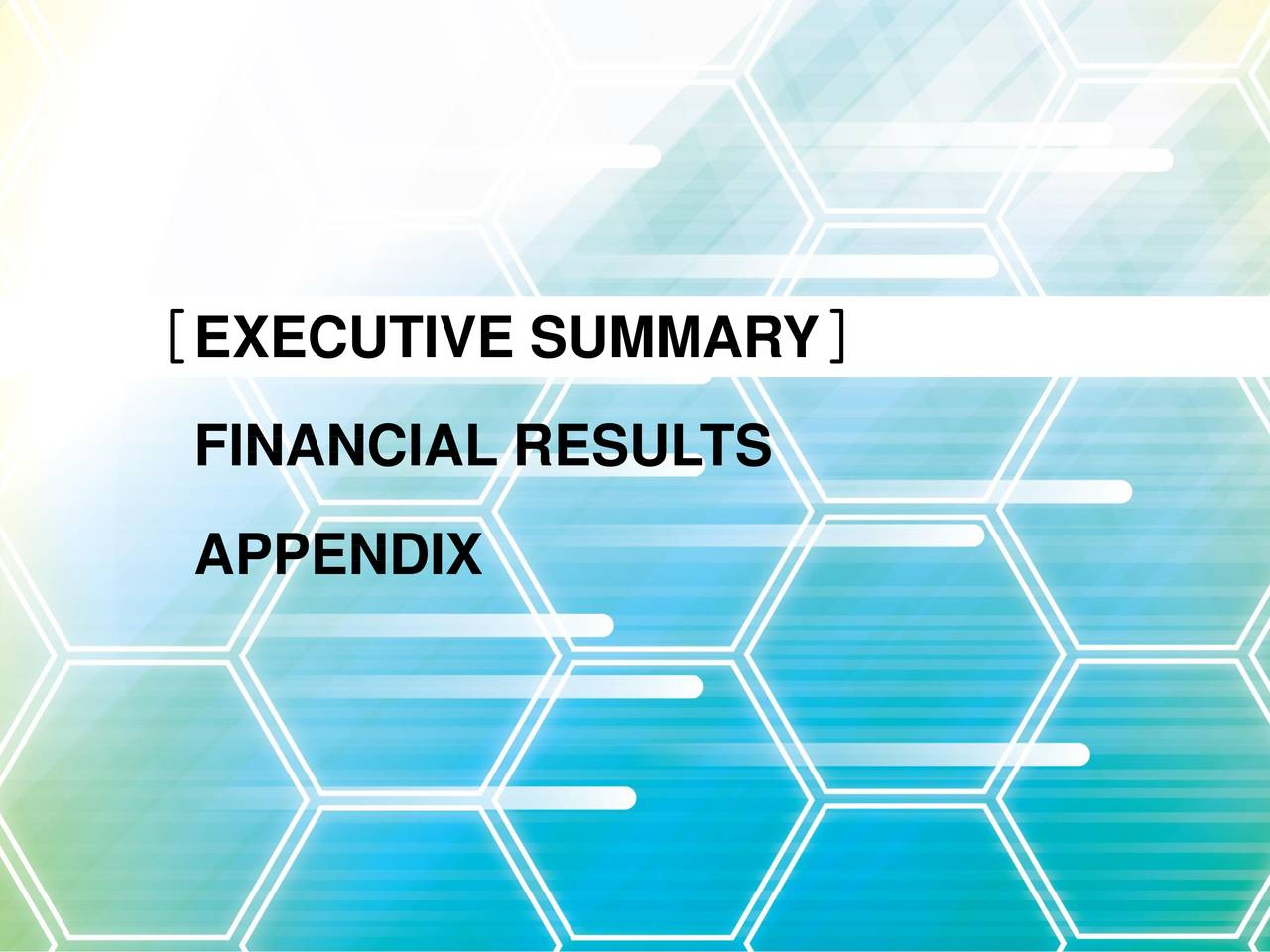 FINANCIAL RESULTS APPENDIX
