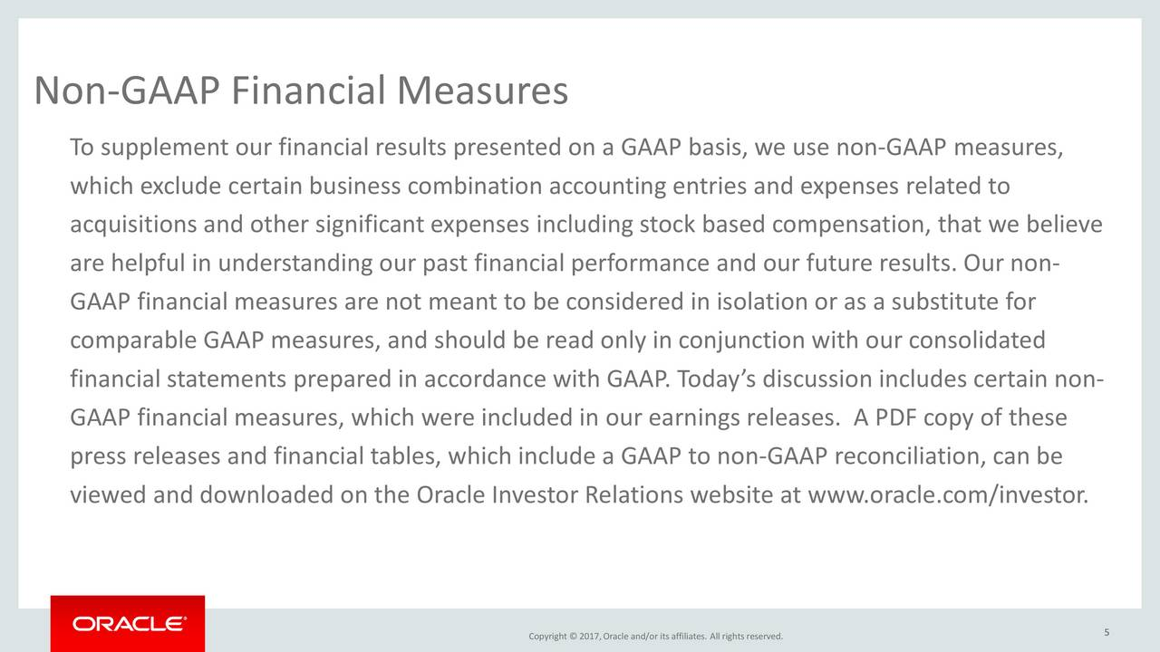 Orcl Stock Quote Oracle Orcl Investor Presentation  Slideshow  Oracle