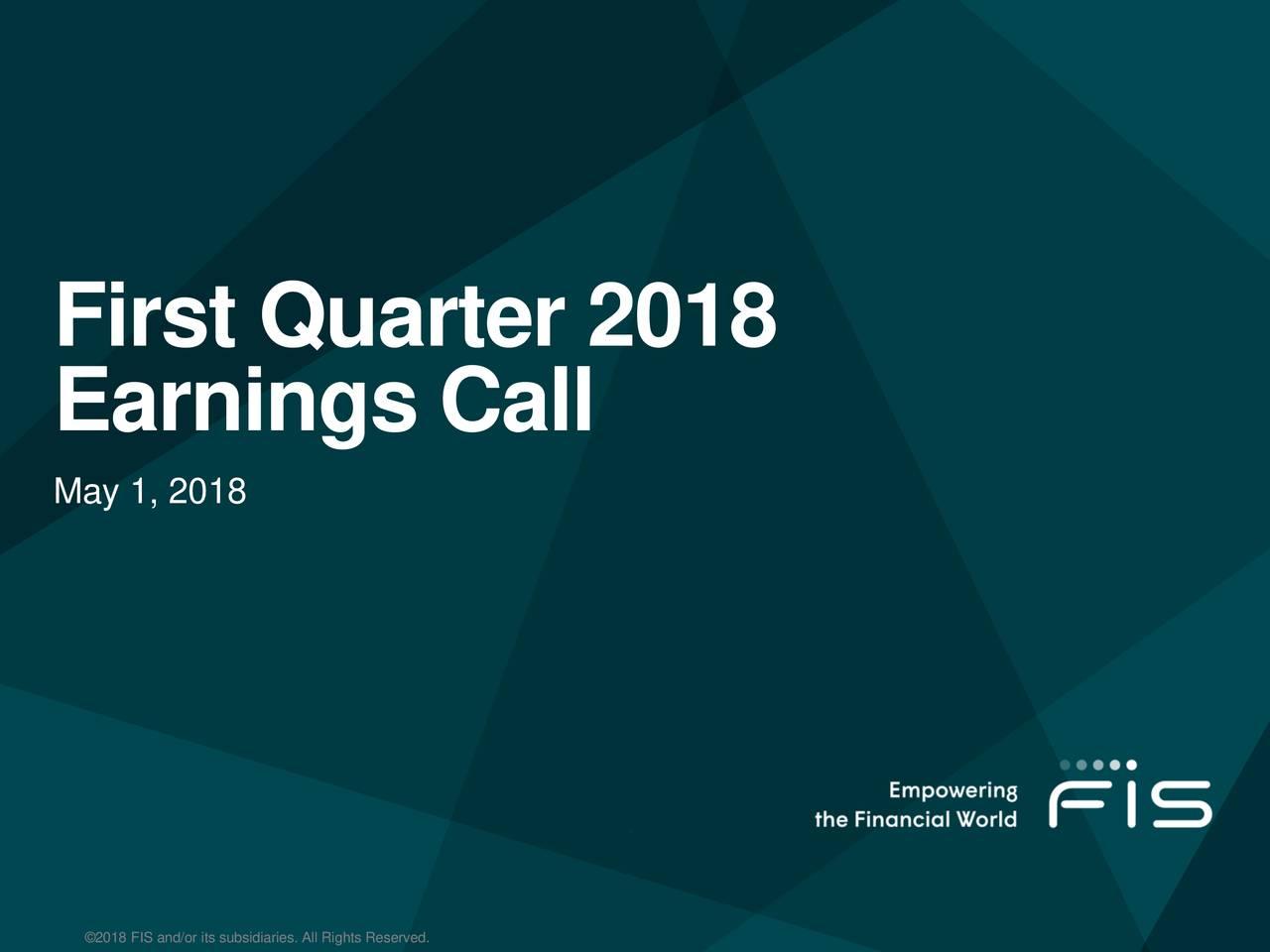 First Quarter 2018