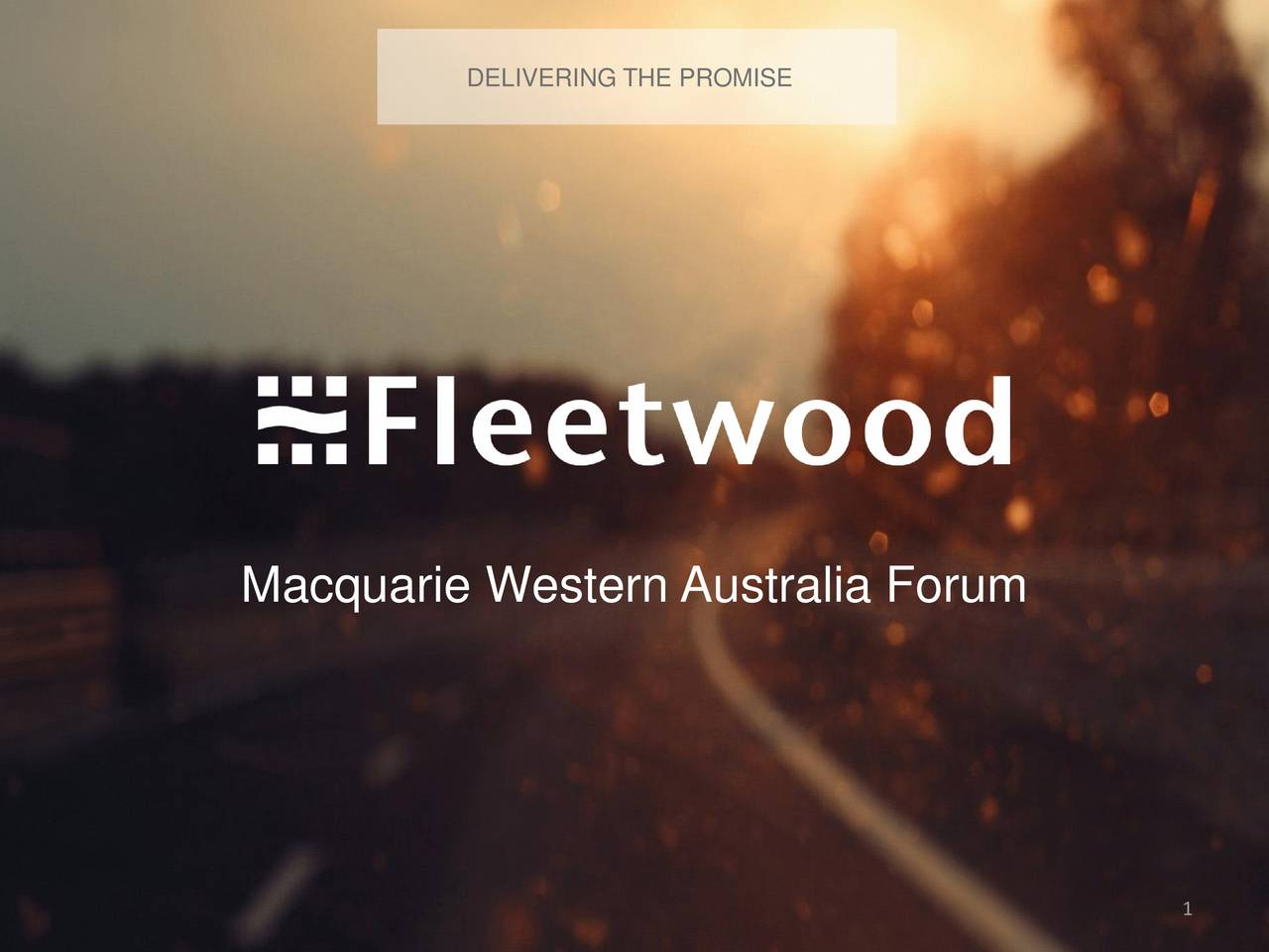 Fleetwood Corporation (FLWLF) Presents At WA Forum