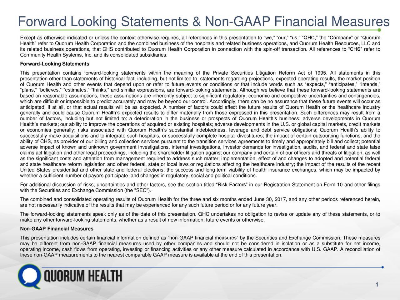 Quorum Health Qhc Presents At Morgan Stanley 15th Annual