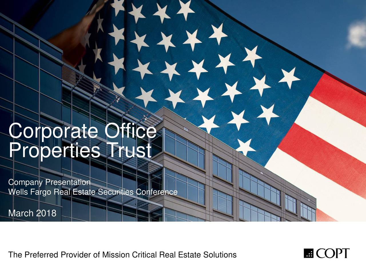 Corporate Office Properties Trust (OFC) Presents At Wells ...