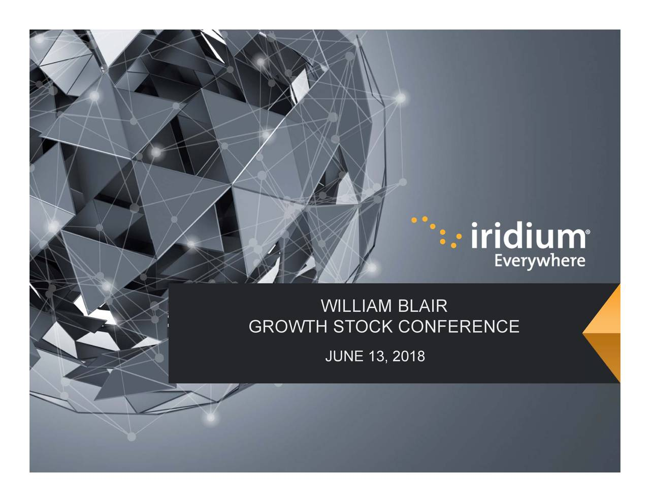 WILLIAM BLAIR GROWTH STOCK CONFERENCE