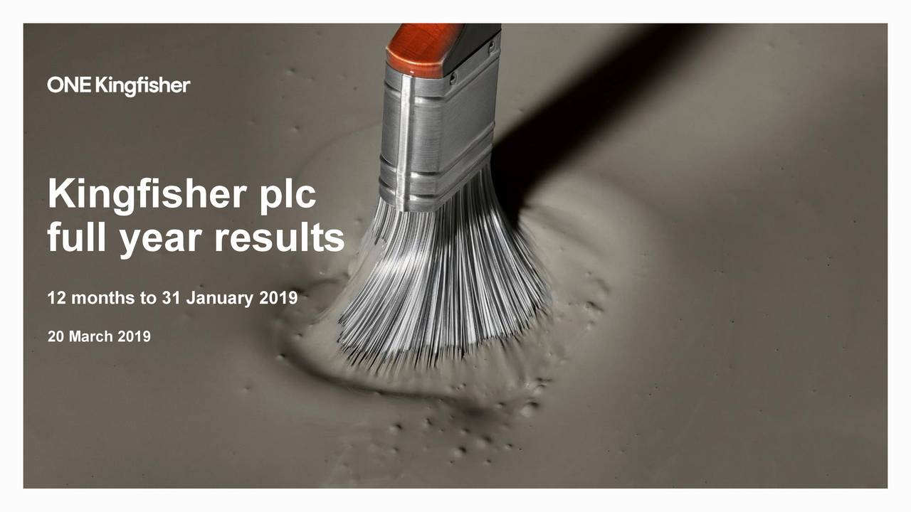 full year results 12 months to 31 January 2019 20 March 2019