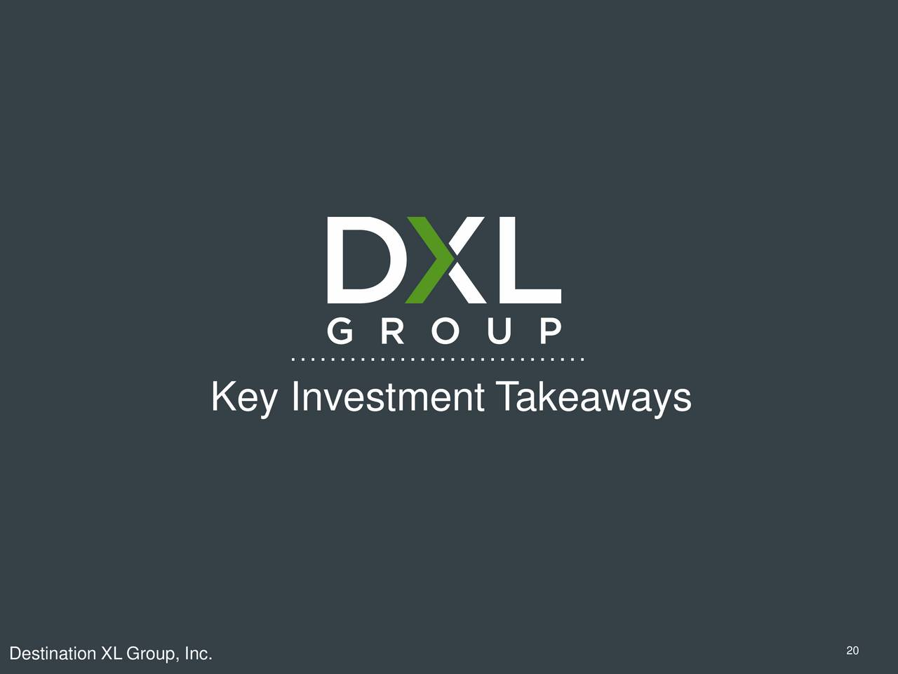 Destination XL Group (DXLG) Presents At Jefferies 2017 ...