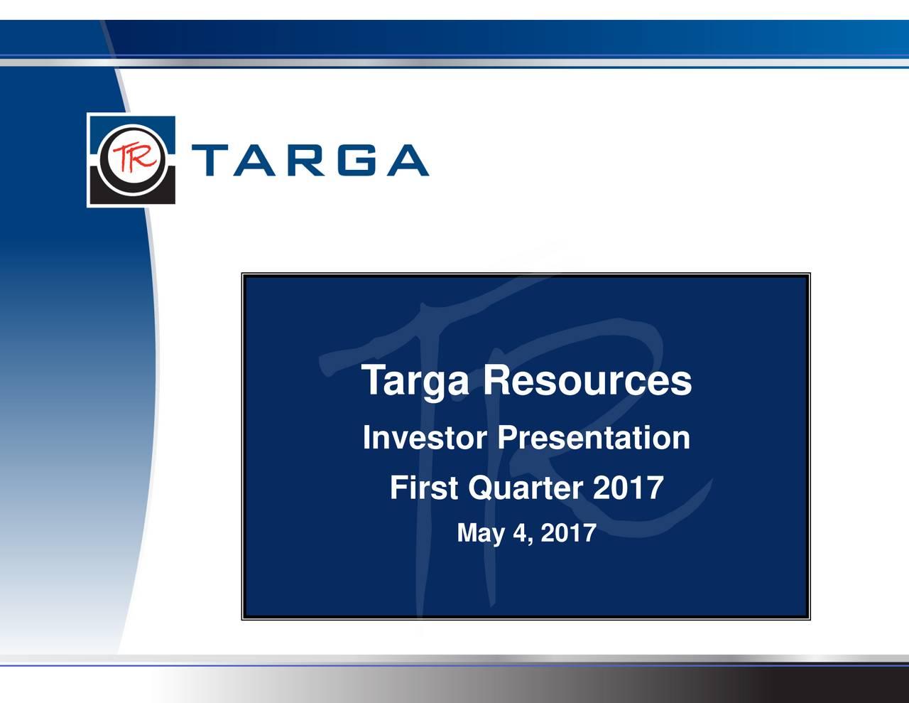 Investor Presentation First Quarter 2017 May 4, 2017