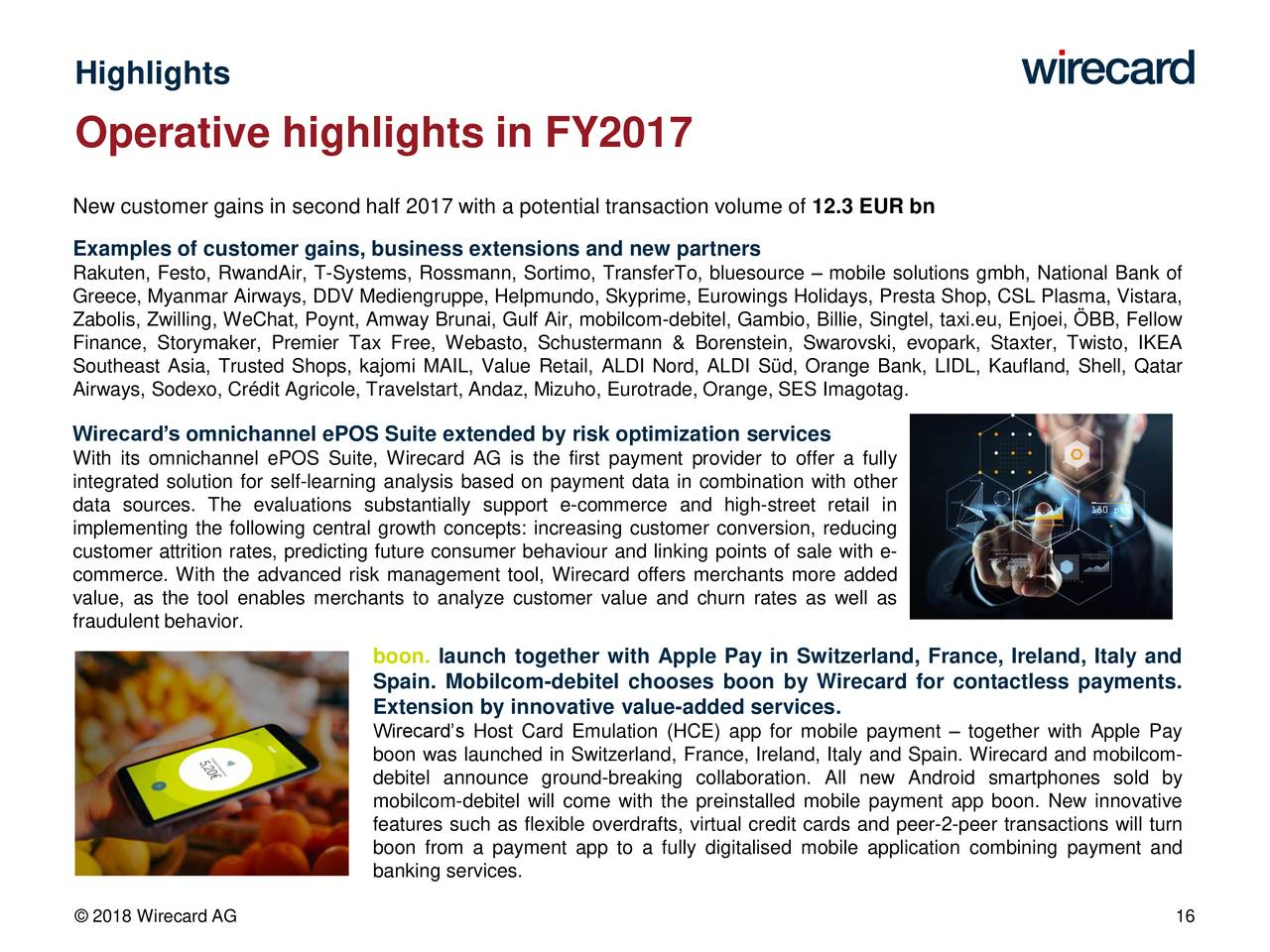 Wirecard Ag Adr 2017 Q4 Results Earnings Call Slides
