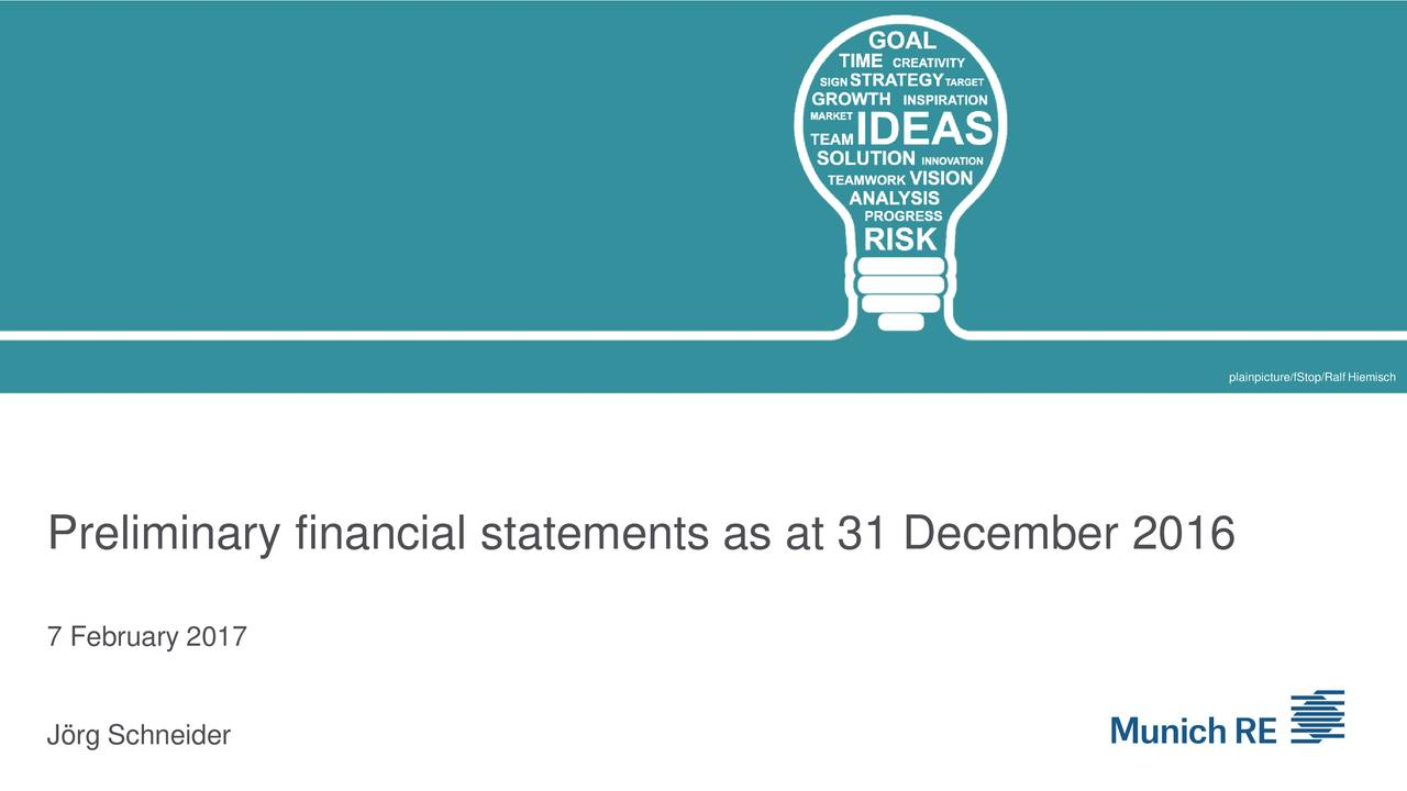 Muenchener Rueckver Ges 2016 Q4 - Results - Earnings Call Slides ...
