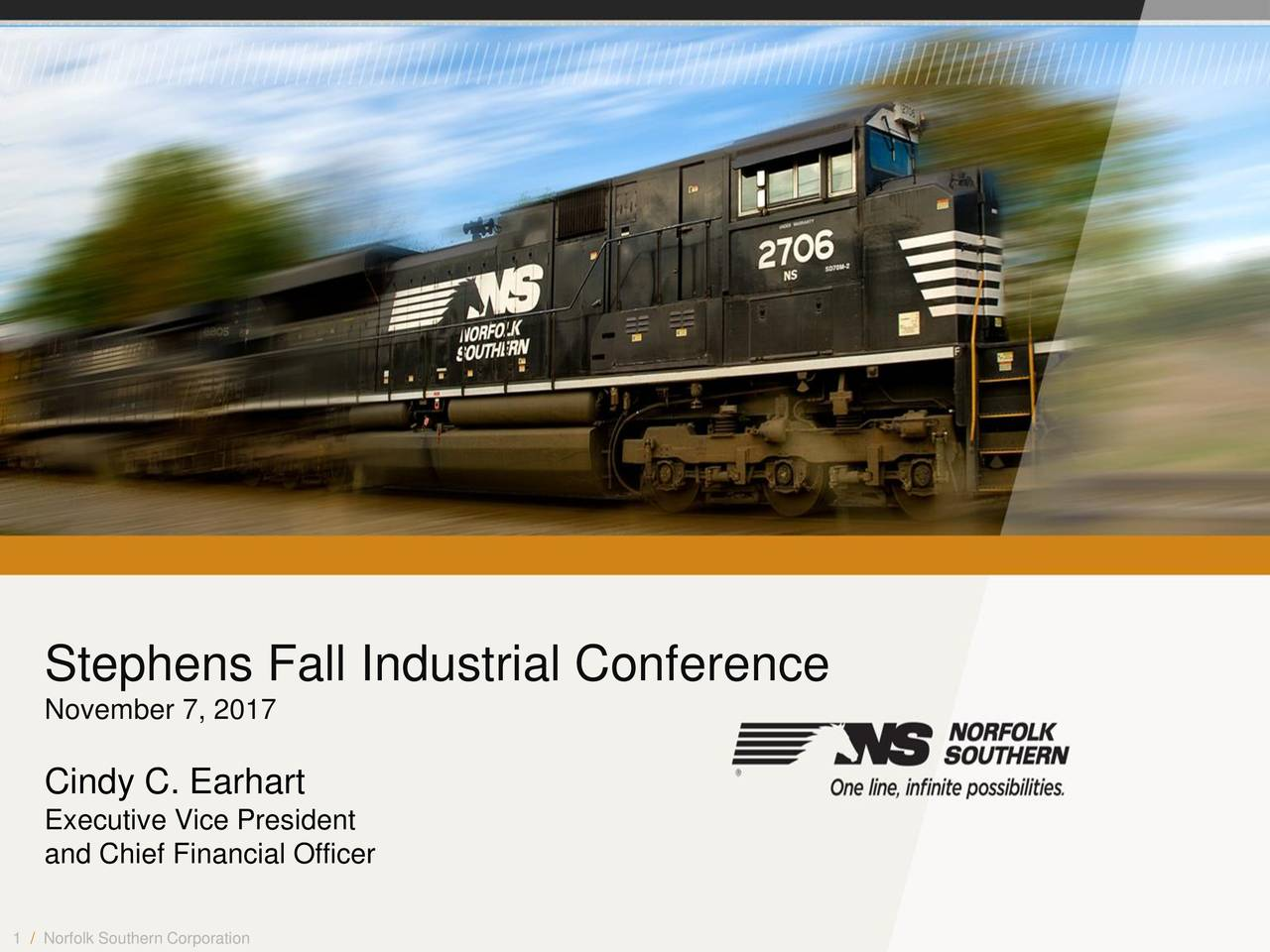 Nsc Stock Quote Norfolk Southern Nsc Presents At Stephens Fall Investment