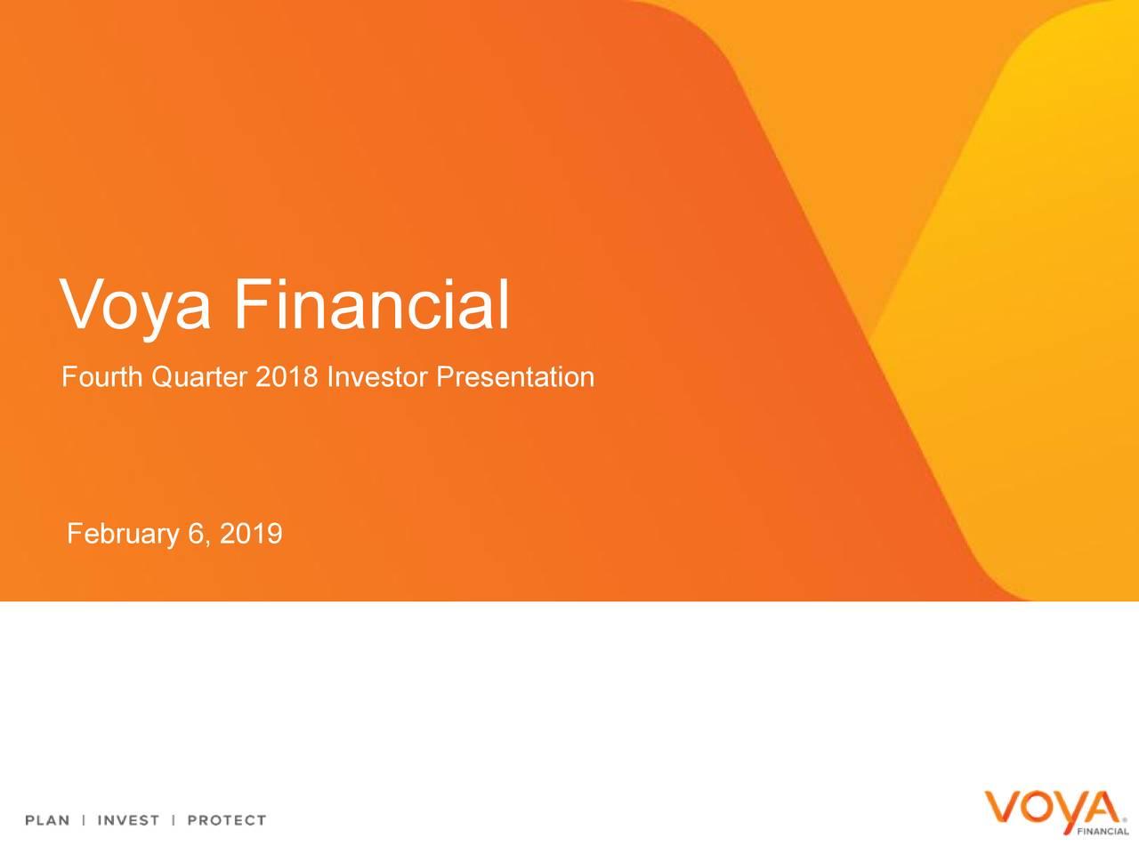 Fourth Quarter 2018 Investor Presentation February 6, 2019