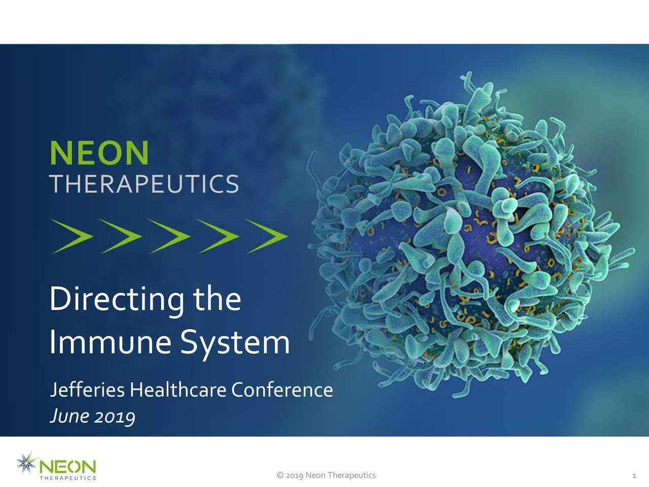 THERAPEUTICS Directing the ImmuneSystem JefferiesHealthcareConference June2019