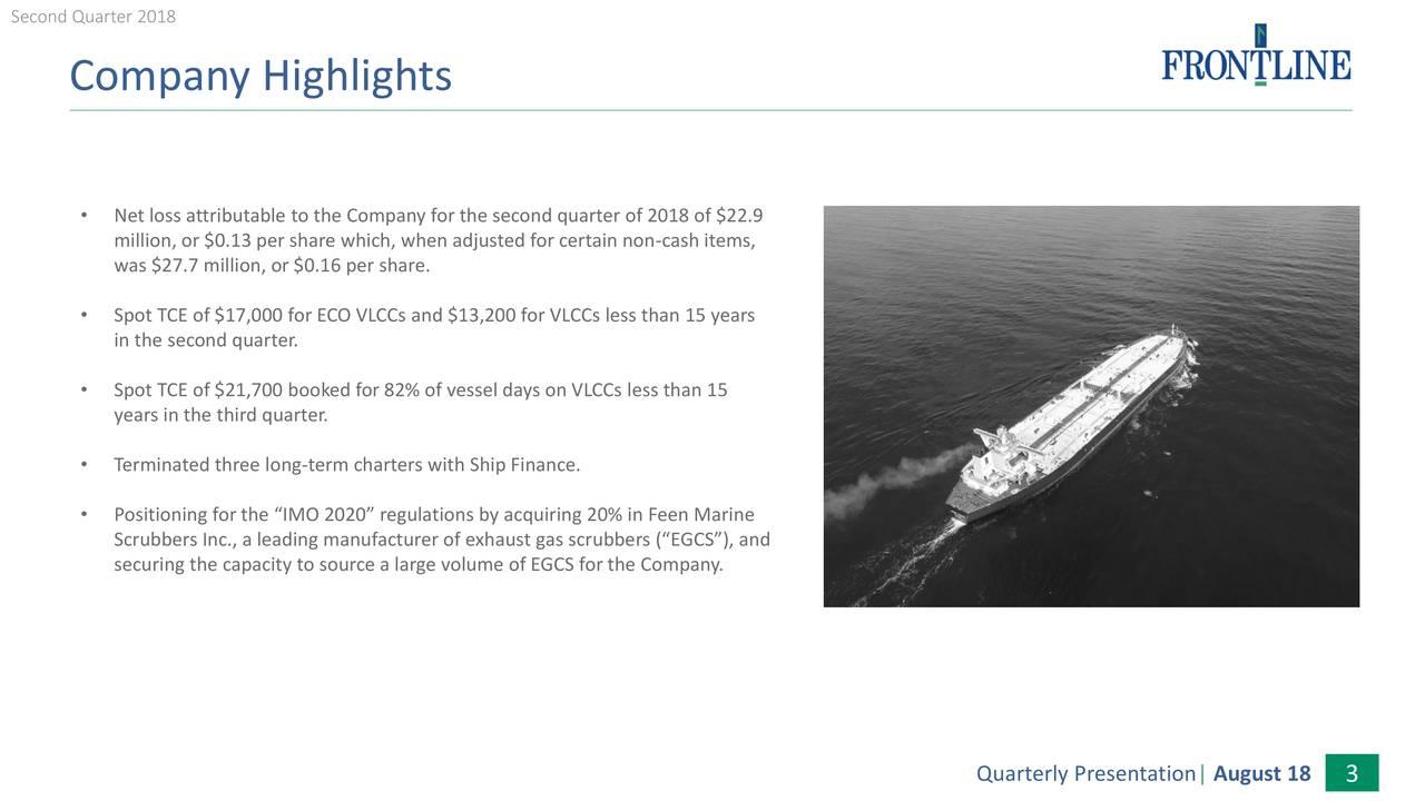 Frontline Ltd. 2018 Q2 - Results - Earnings Call Slides - Frontline ...
