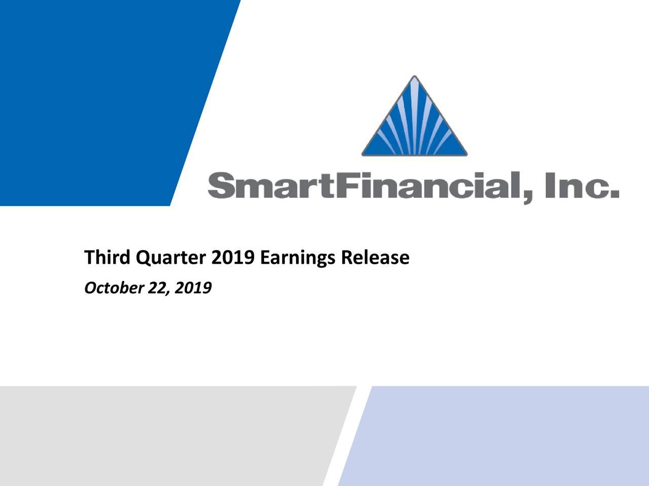 SmartFinancial, Inc. 2019 Q3 - Results - Earnings Call Presentation