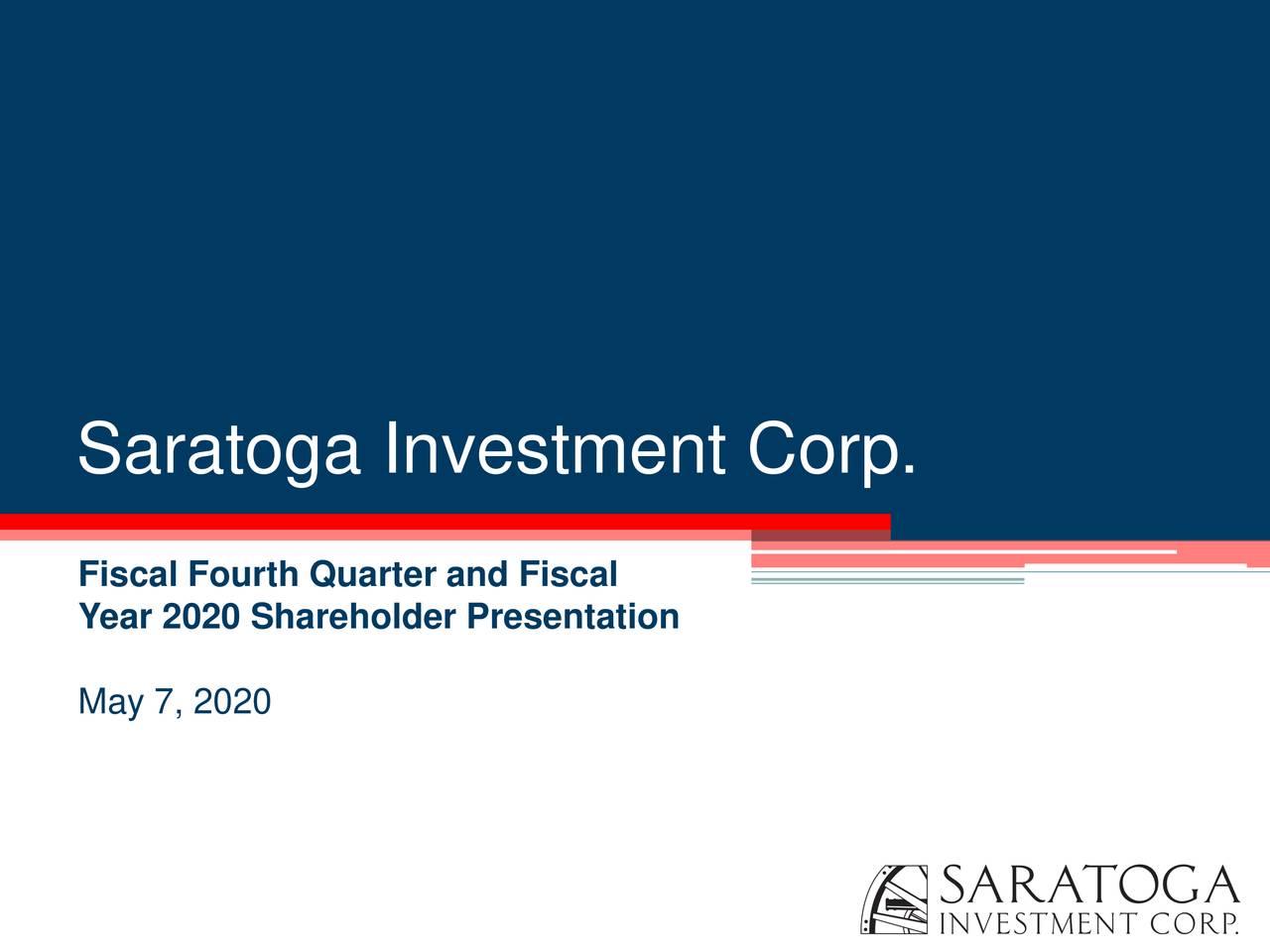 Saratoga investment corp dividend mitsui fudosan investment advisors inc