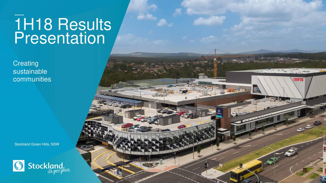 Stockland 2018 Q2 Results Earnings Call Slides