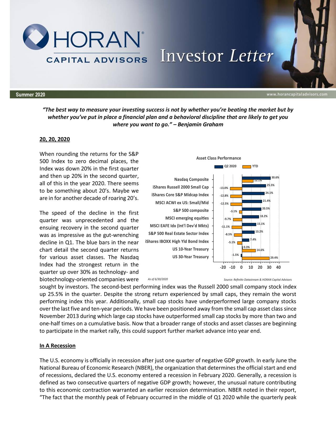 Summer 2020 Investor Letter: A 'V-Shaped' Market Recovery