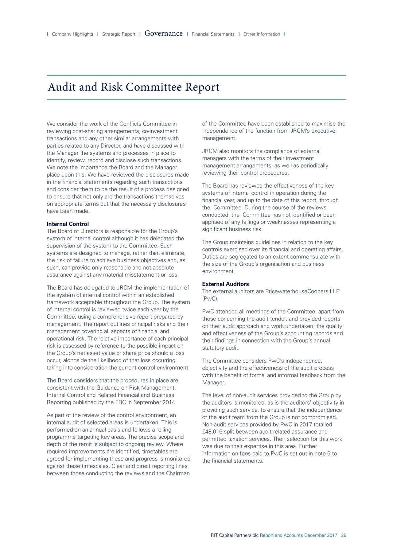 RIT Capital Partners Annual Report 2017 - RIT Capital Partners Plc. (OTCMKTS:RITPF) | Seeking Alpha