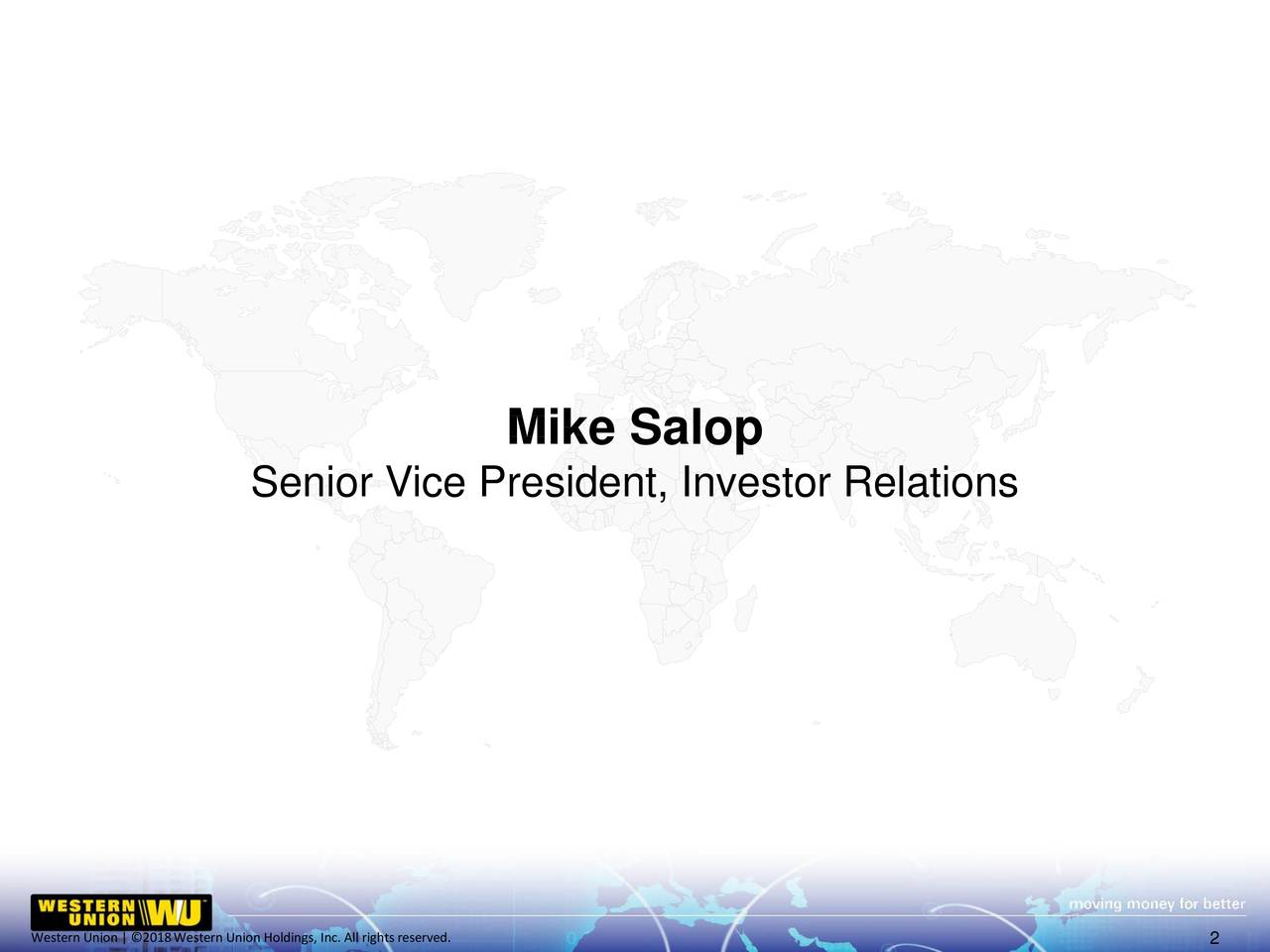 Senior Vice President, Investor Relations