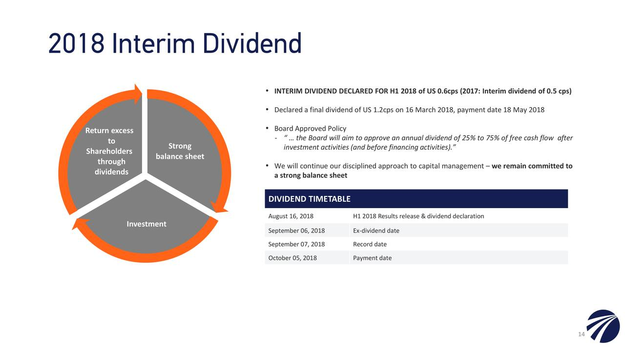 Interim dividend timetable for 2017 and 2018  - marsuppdraxen gq