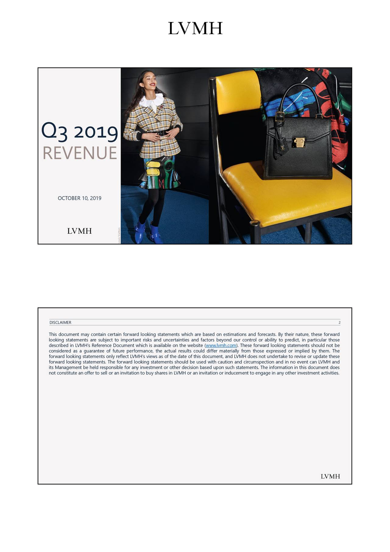 LVMH Moët Hennessy - Louis Vuitton, Société Européenne 2019 Q3 - Results - Earnings Call Presentation