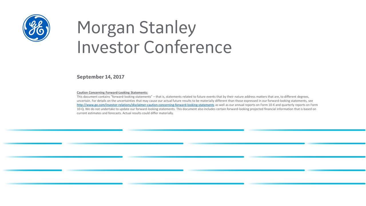 Morgan Stanley Laguna Conference General Electric