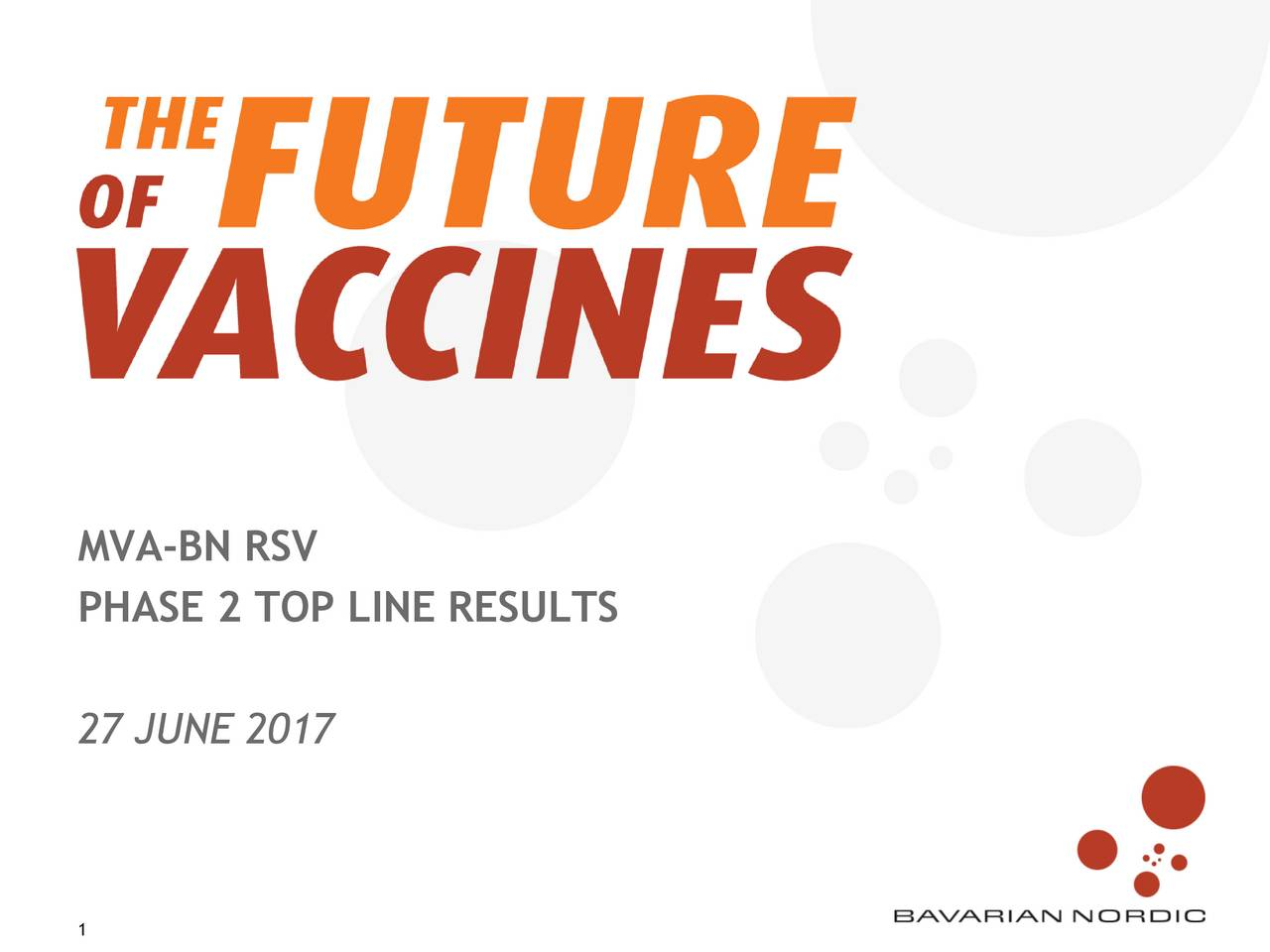 PHASE 2 TOP LINE RESULTS 27 JUNE 2017
