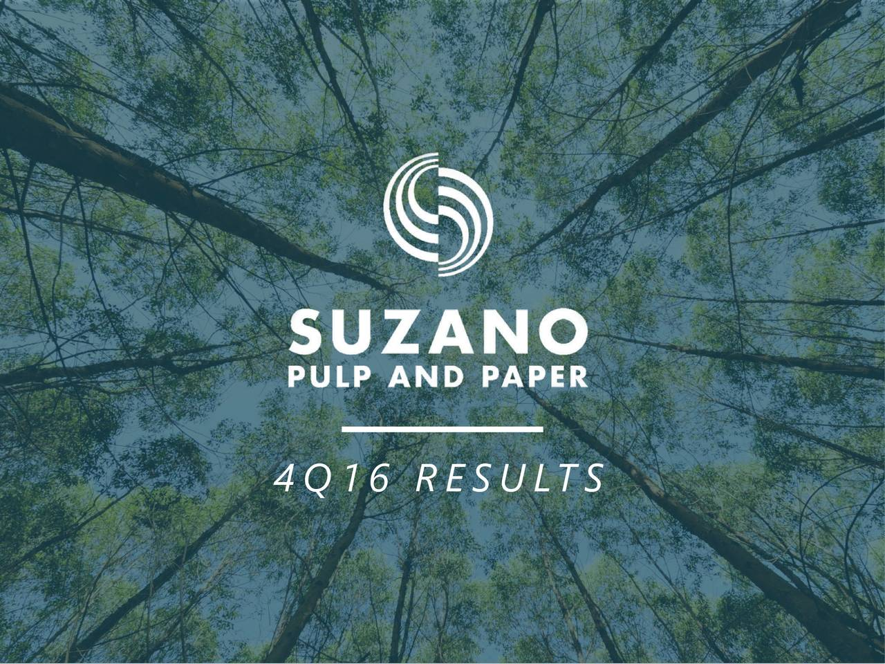 2b62332f9b Suzano Papel E Celulose SA ADR 2016 Q4 - Results - Earnings Call Slides