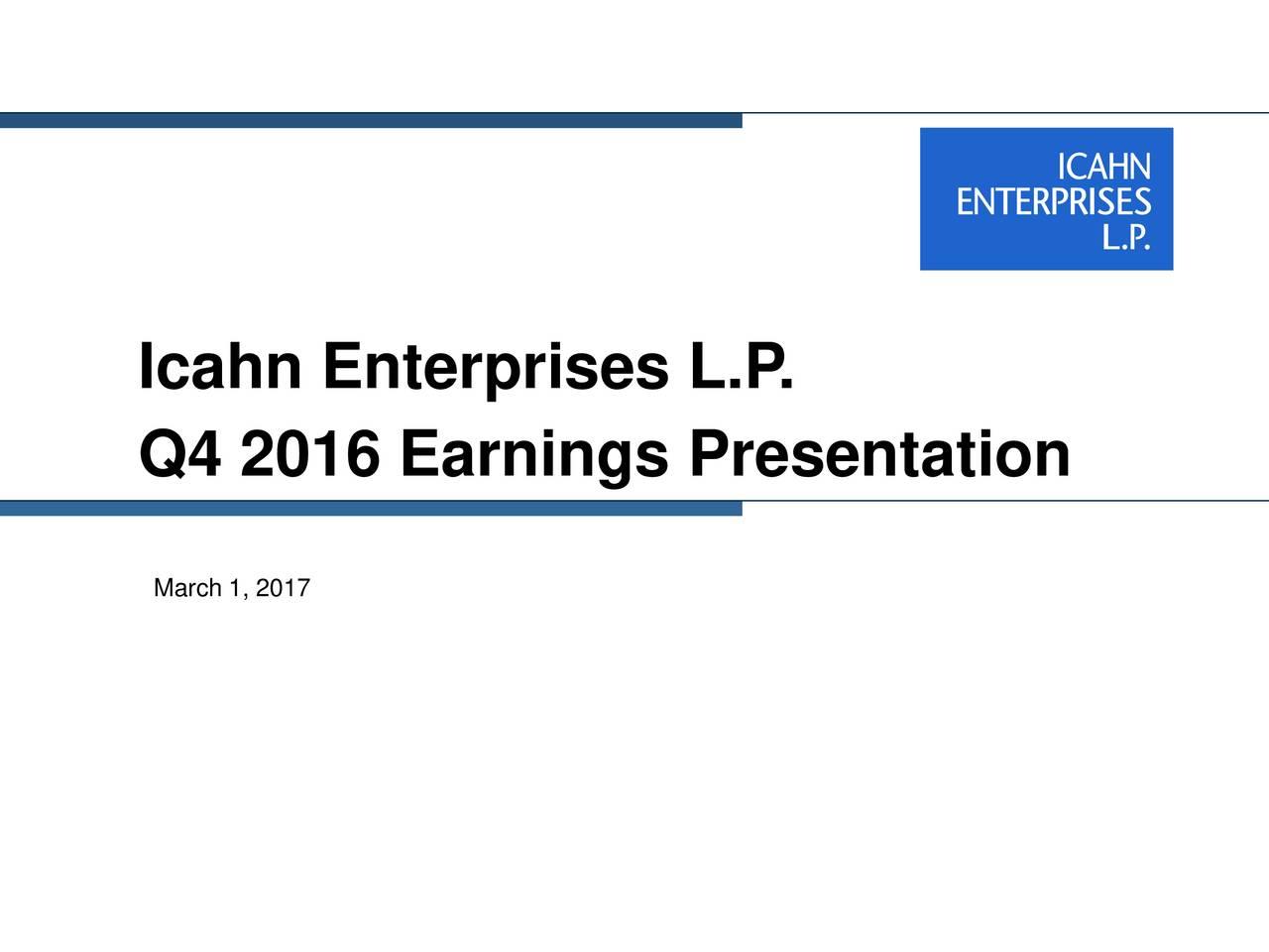 Q4 2016 Earnings Presentation March 1, 2017