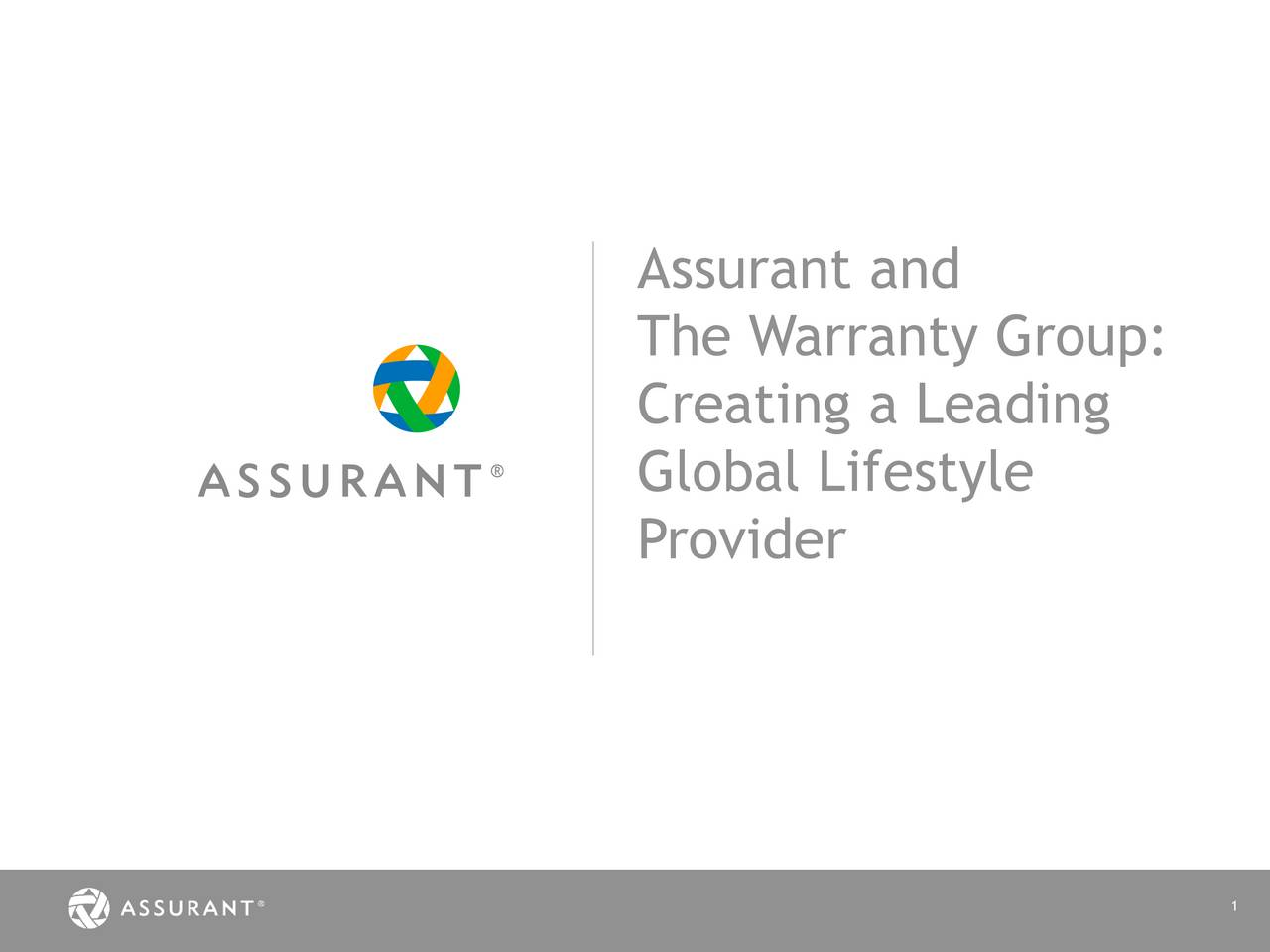 The Warranty Group: Creating a Leading Global Lifestyle Provider 1
