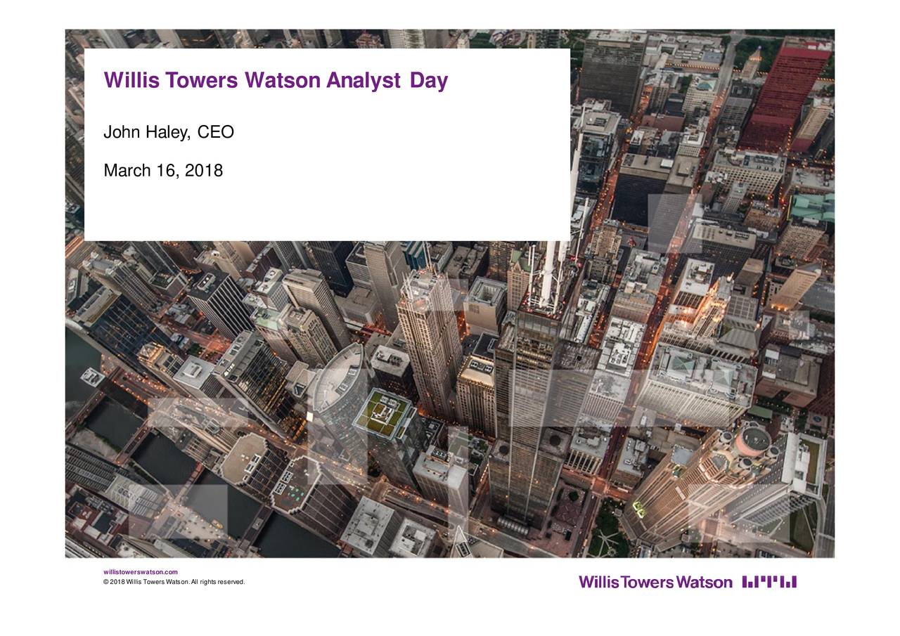 Willis Towers Watson (WLTW) Investor Presentation   Slideshow