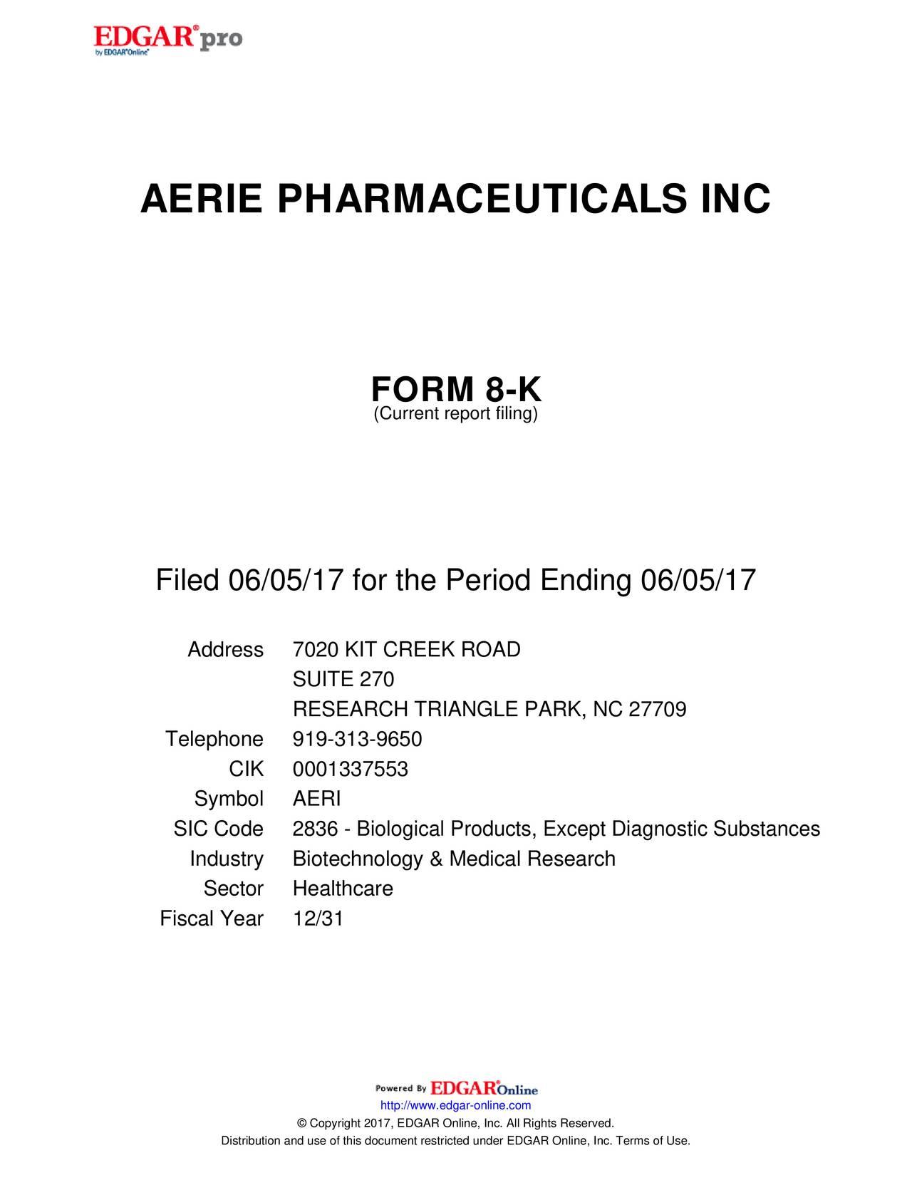 Aerie Pharmaceuticals (AERI) Investor Presentation - Slideshow ...