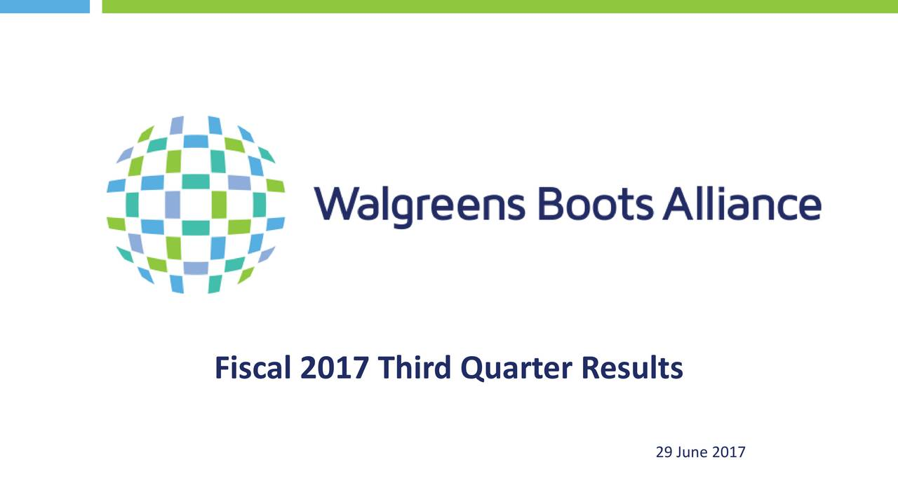 Walgreens Stock Quote Walgreens Boots Alliance Inc2017 Q3  Results  Earnings Call