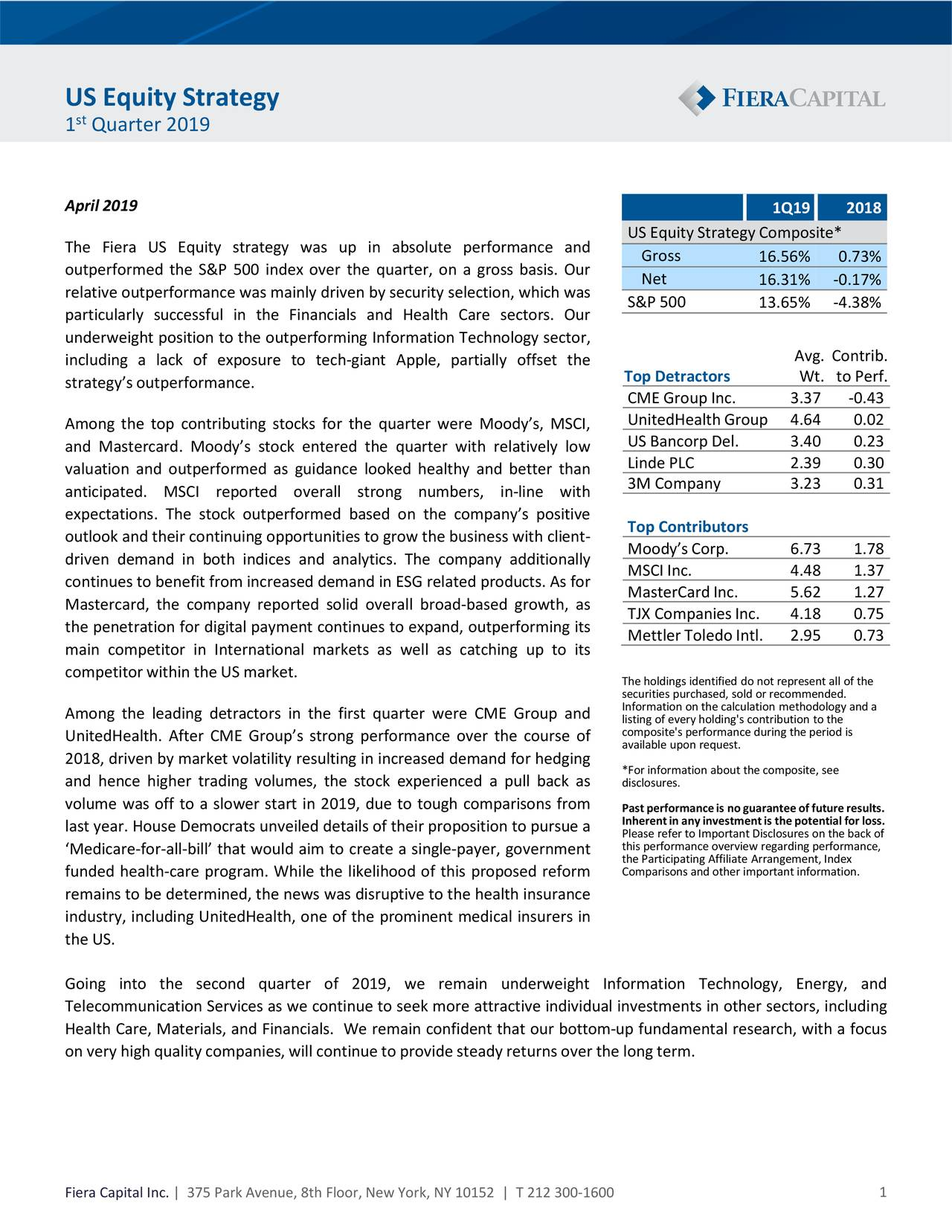 US Equity Strategy