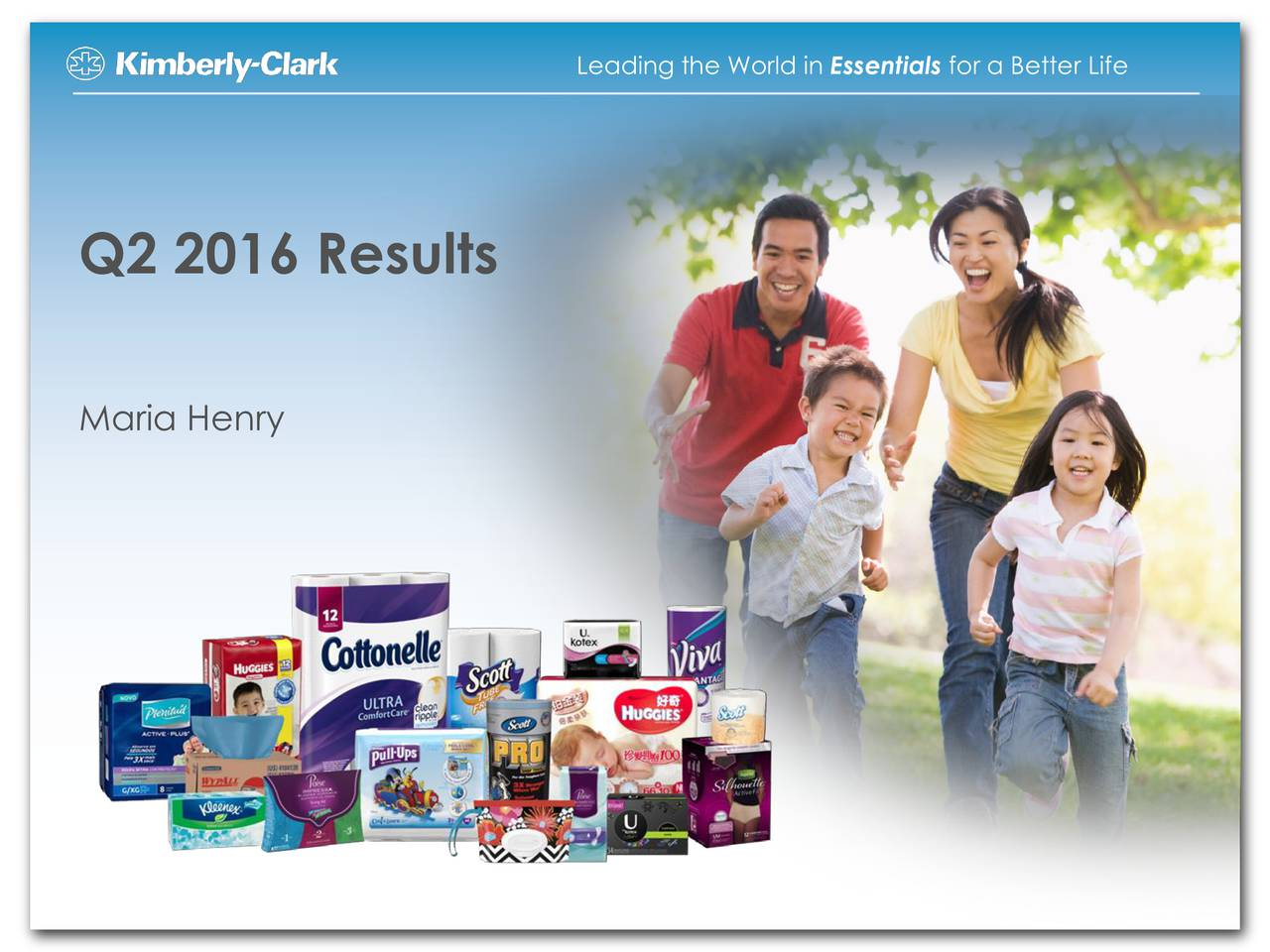 Q2 2016 Results Maria Henry