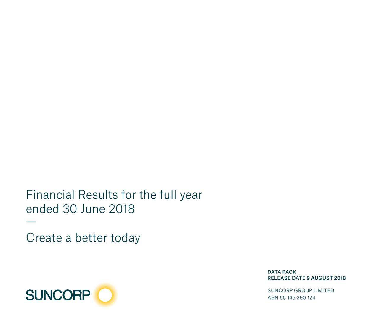 Financial Results for the full year