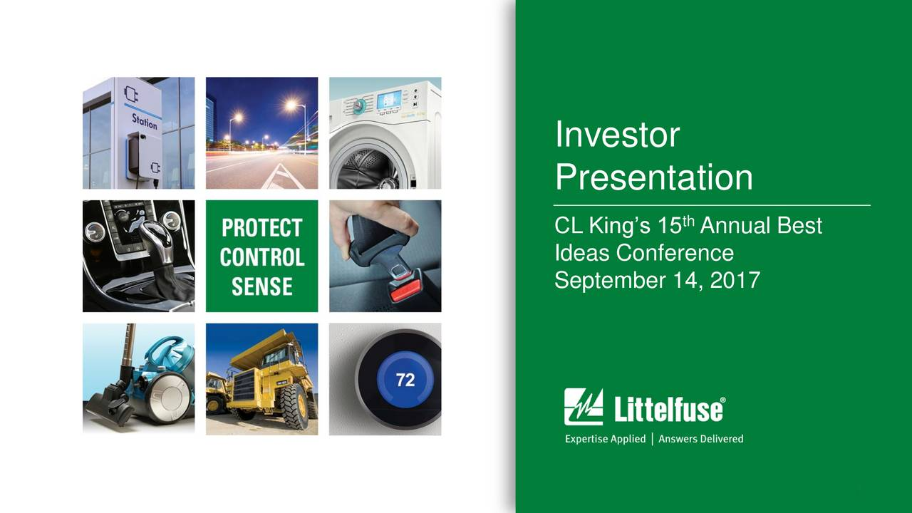 Presentation th CL Kings 15 Annual Best Ideas Conference September 14, 2017 1