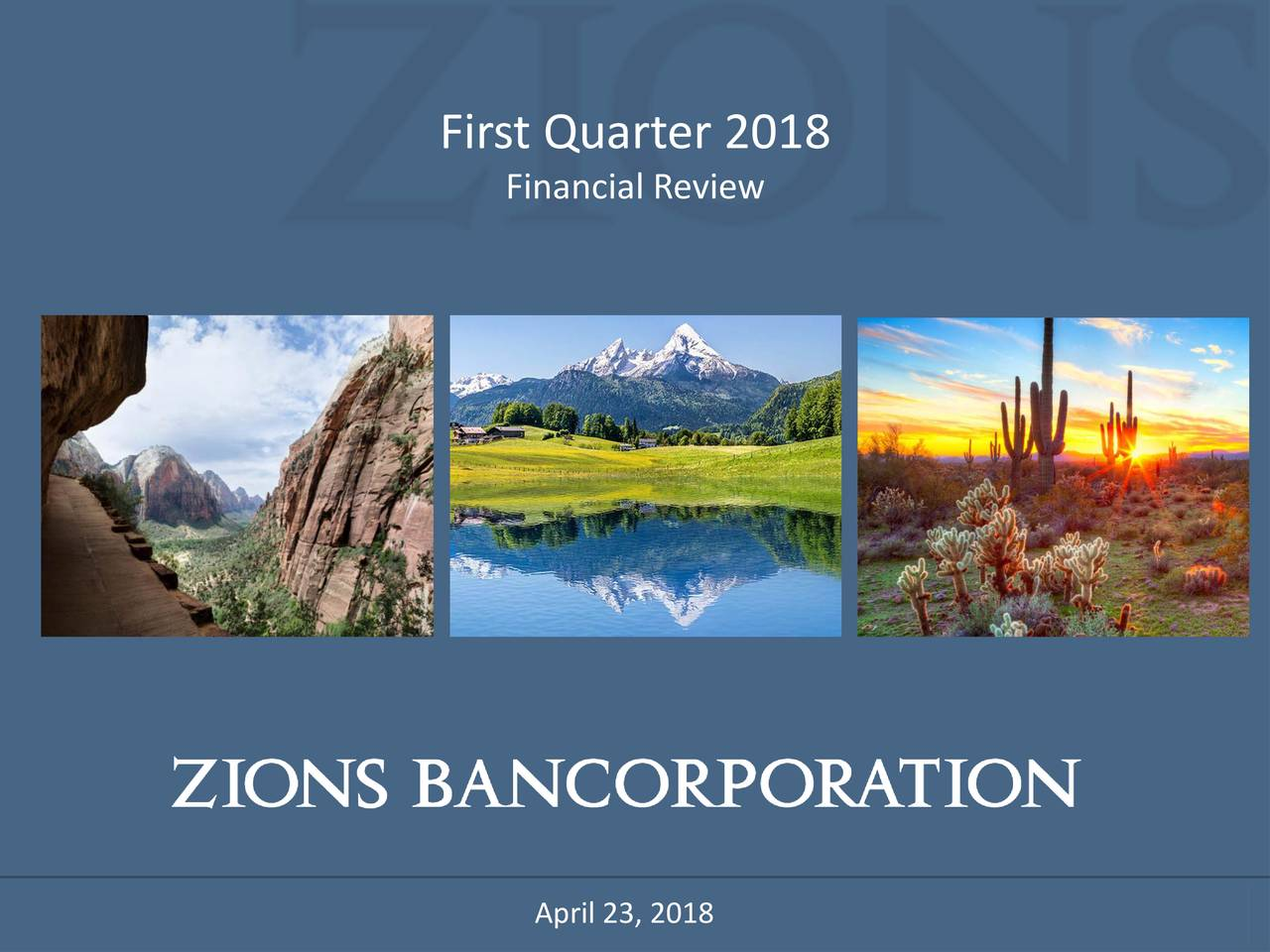 Financial Review April 23, 2018