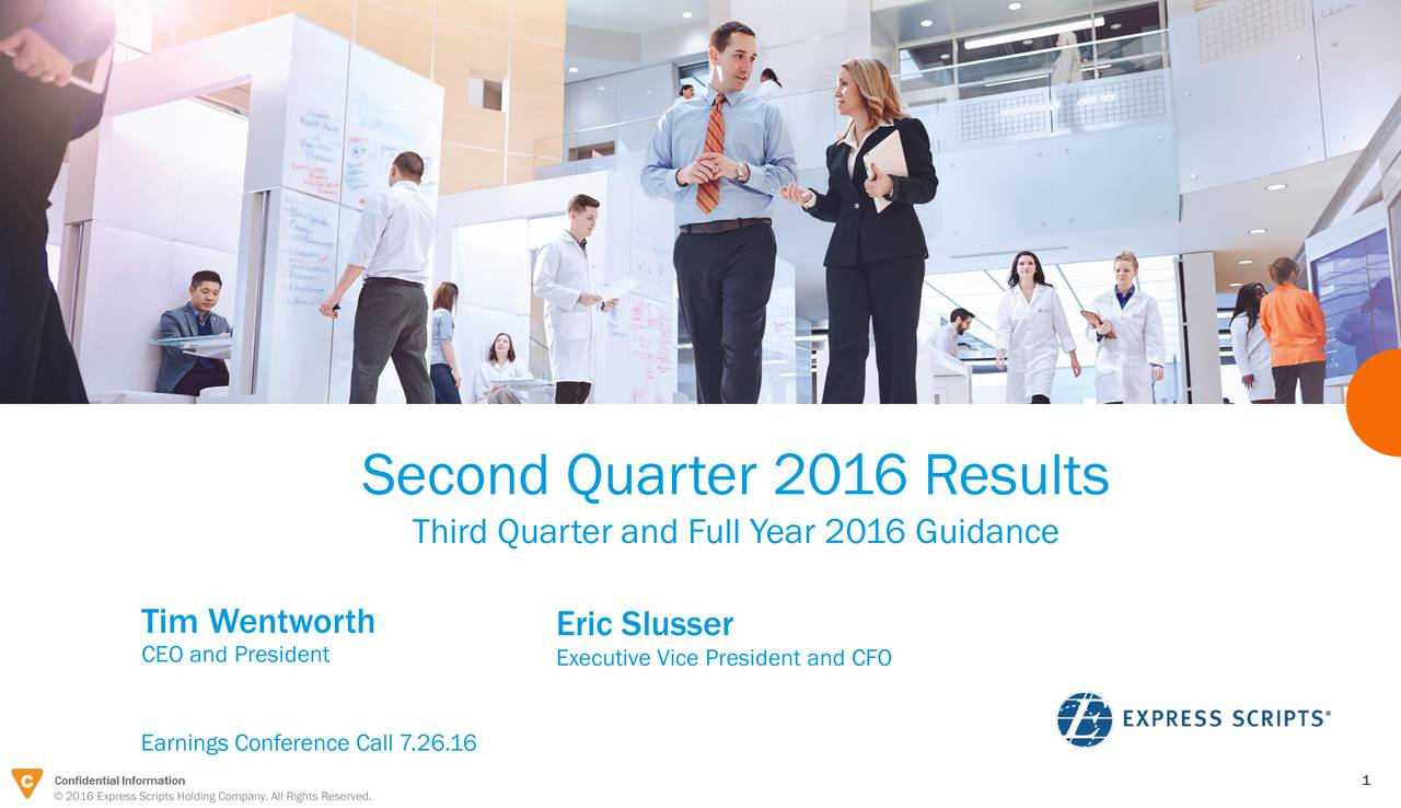 Third Quarter and Full Year 2016 Guidance Tim Wentworth Eric Slusser CEO and President Executive Vice President and CFO Earnings Conference Call 7.26.16 1