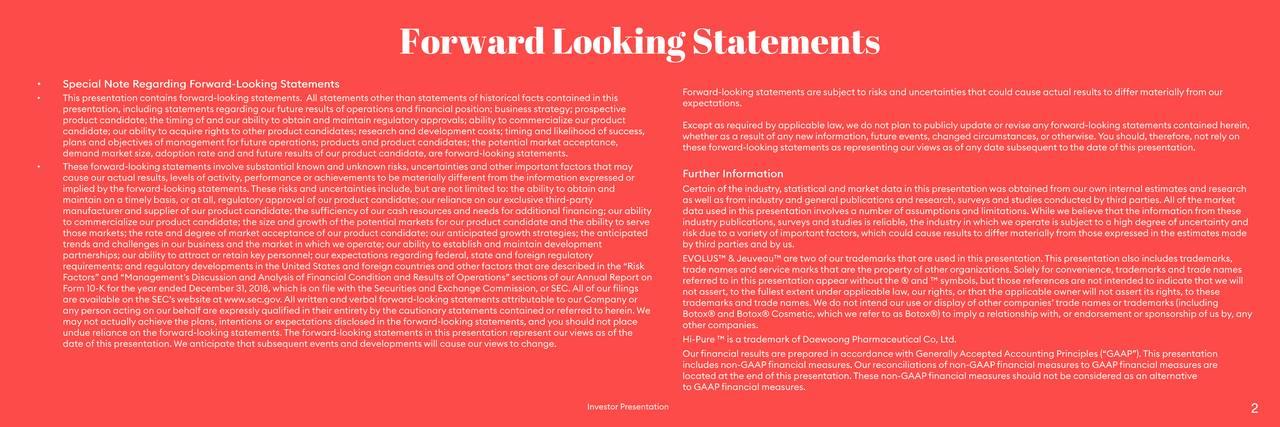 ForwardLookingStatements