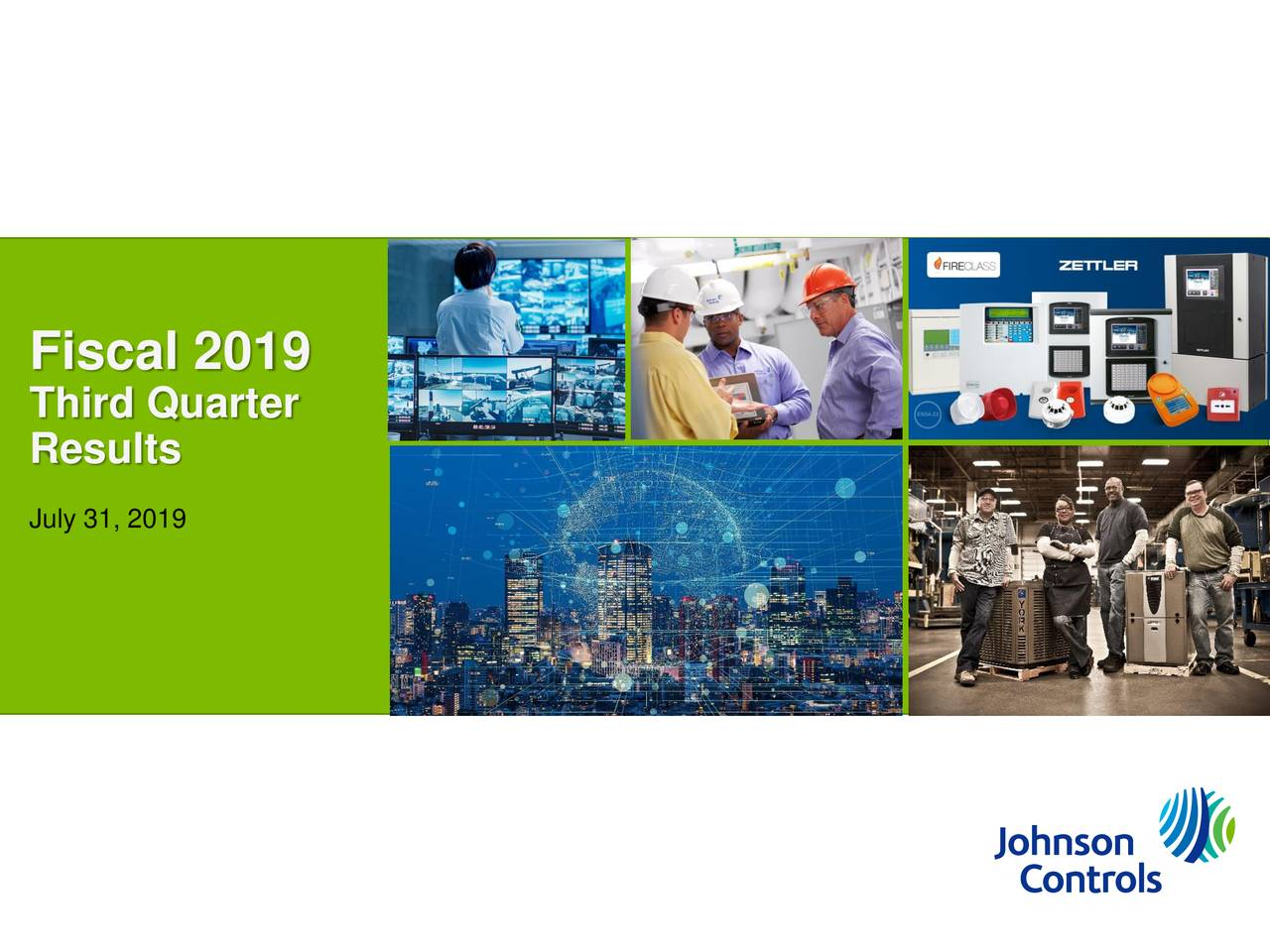 Johnson Controls International plc 2019 Q3 - Results