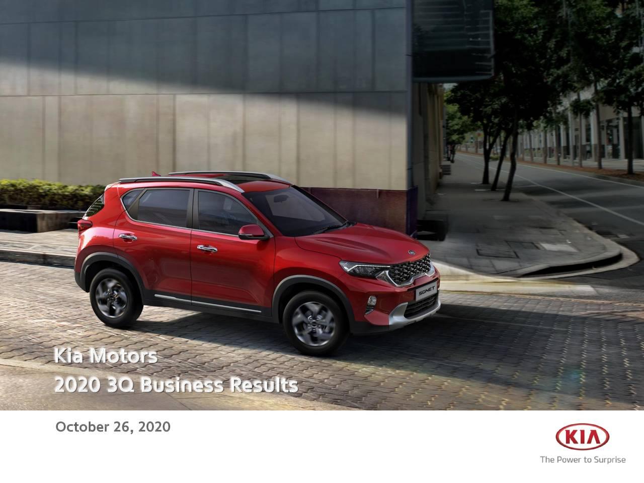 Kia Motors Corporation 2020 Q3 - Results - Earnings Call Presentation (OTCMKTS:KIMTF)