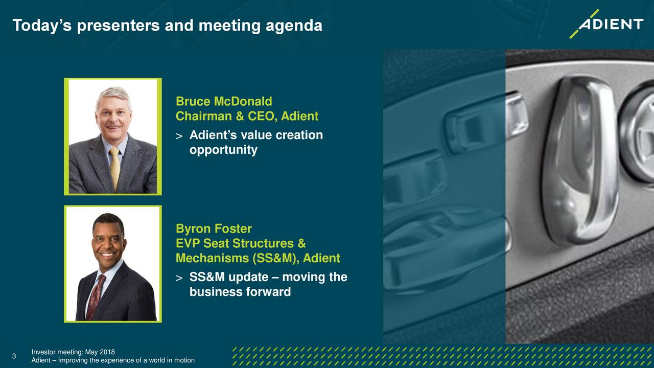 Today's presenters and meeting agenda