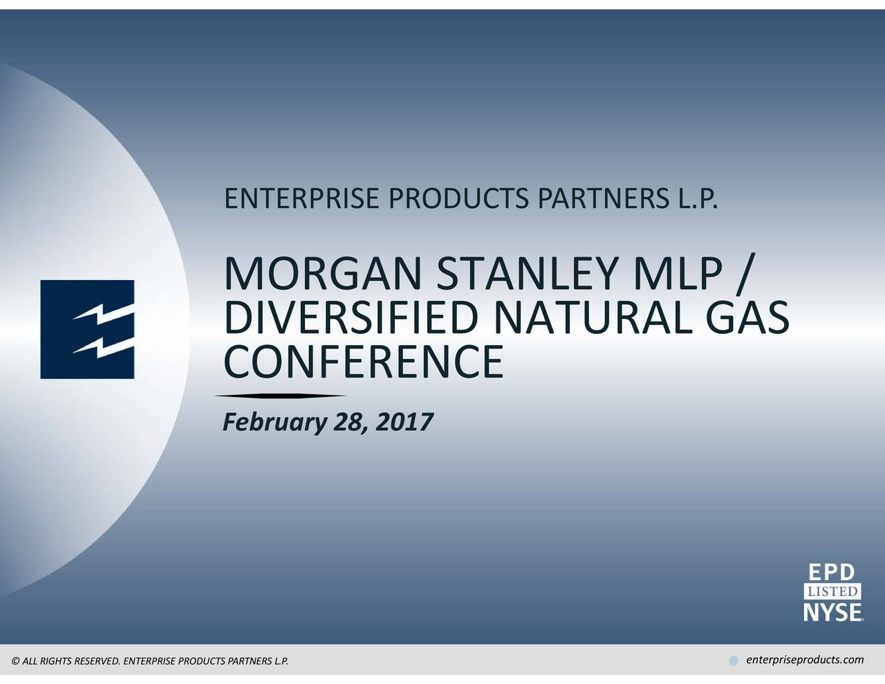 Enterprise Products Partners L P (EPD) Presents At Morgan